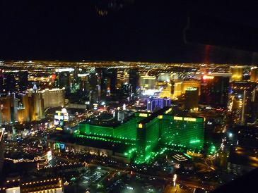 ラスベガス ヘリコプターから見たMGM夜景