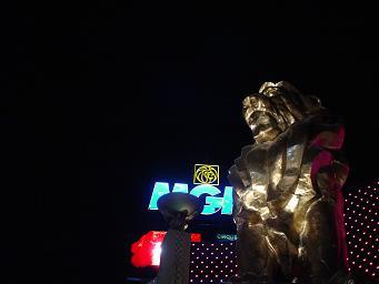ラスベガス MGMグランドホテル 正面ライオン 画像