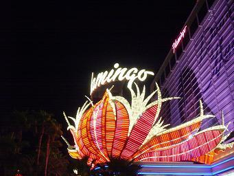 ラスベガス フラミンゴホテルのシンボルネオン