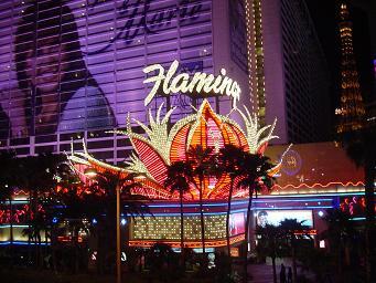 ラスベガス フラミンゴホテルのネオン