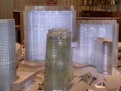 ラスベガス シティーセンター ベラッジオホテルにあるラスベガスシティーセンター完成模型