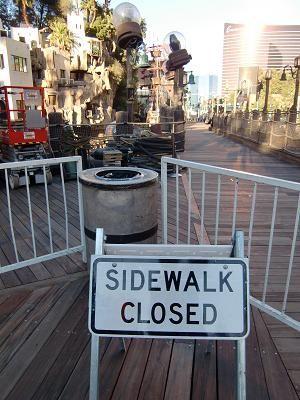 ラスベガス TIホテル 通行止めの通路