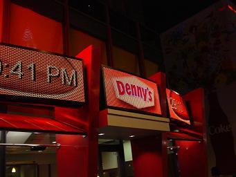 ラスベガス ストリップ通り Denny,sのデジタルサイネージ
