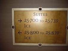 ラスベガス パラッツオホテル 部屋案内板