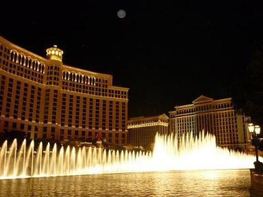 ラスベガス ベラッジオホテル 噴水ショー