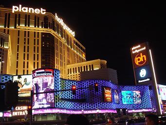 ラスベガス プラネットハリウッドホテル 夜 画像