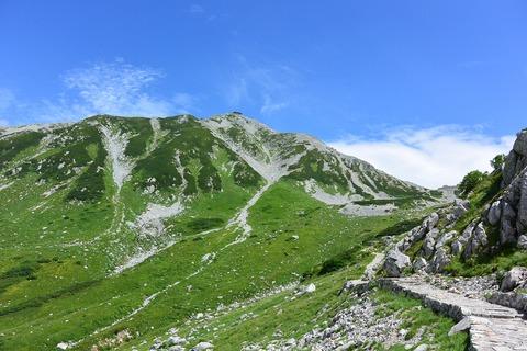 124 立山が眩しい。