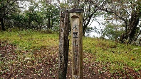 28 山梨百名山の標識が2つ。