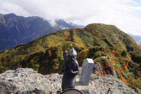 141 先頭の副隊長は大日岳に到着。