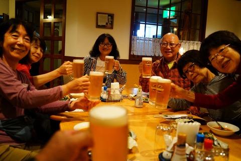 073 生ビールで乾杯。