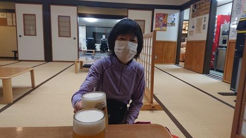 081 「道志の湯」で漸くビールにありつく。
