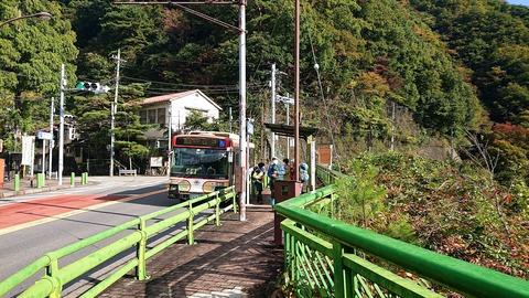01 今日のスタートは峰谷橋BS。