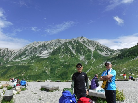 127 立山をバックに。