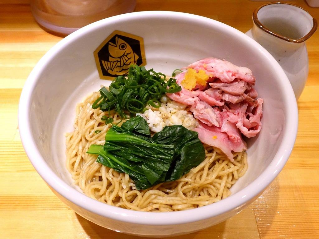 真鯛らーめん 麺魚@錦糸町 (鯛油そば スープ付き、鯛雑炊飯)
