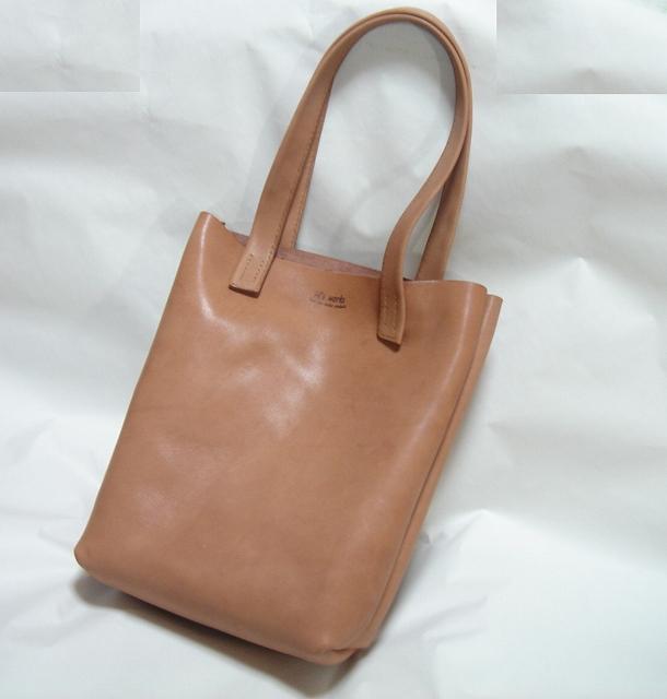 手縫いのヌメ革トートバッグ002 トートバッグ アルテミス ハンドメイド通販・販売のCreema