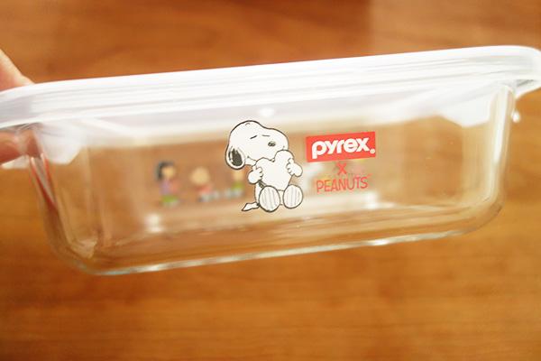 コストコのパイレックススヌーピーガラスストレージセット