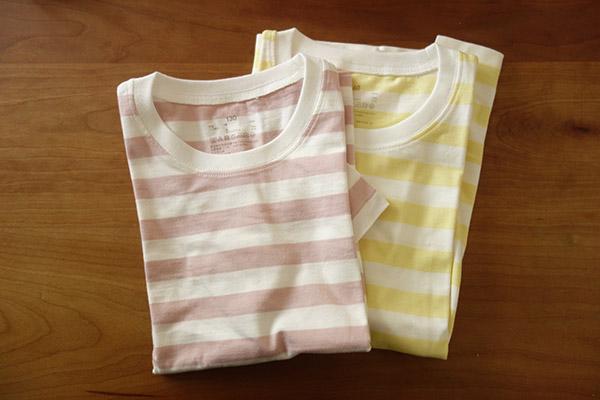 無印良品で子ども用のTシャツが激安だった