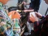 161110トライやるウィーク>四日目>出汁巻き卵を焼く (2)
