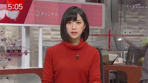 真剣な表情の竹内由恵アナ