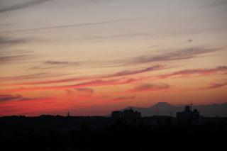夕暮れの富士山2