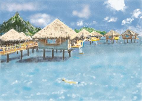 タヒチ島 海の