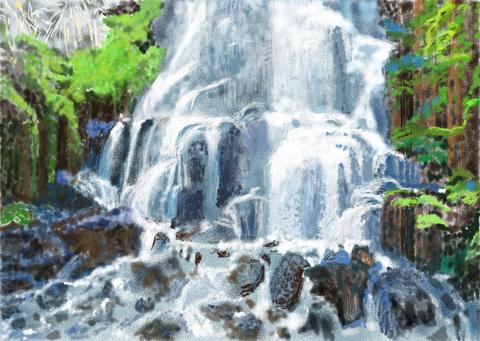 深山の滝1