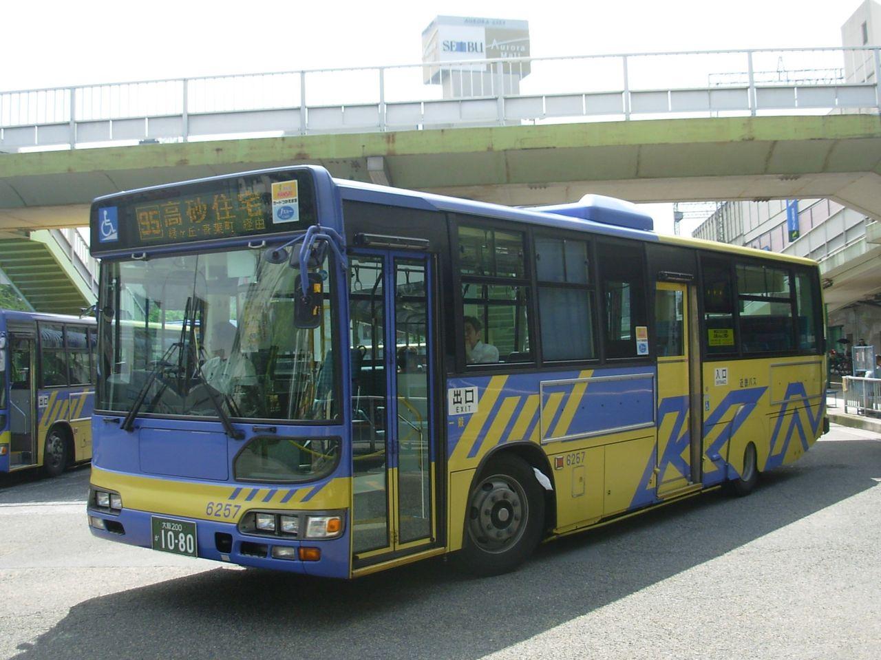 大阪200か1080(近鉄バス6257) : 日吉の空から