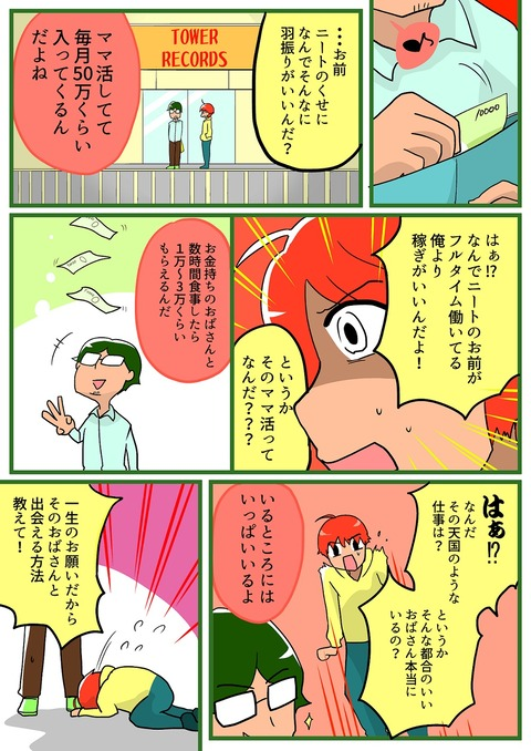 ママ活漫画