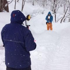 雪山の測量