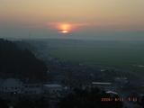 坂井平野の夜明け