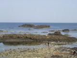 三国湊の安島海岸