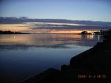 三国港の夕景
