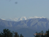 三国の米納津地区より白山を望む