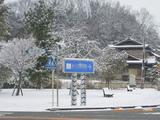 三国湊の春の雪