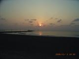 夕方のサンセットビーチ