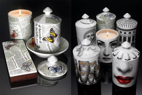 Fornasetti Profumi - Scented Candle Group ii on Black