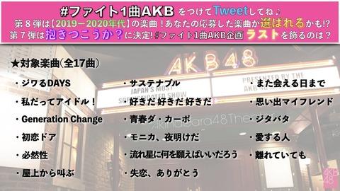 【速報】 ファイト1曲AKB第8弾は『サステナブル』に決定!!!