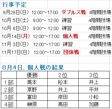 日程表190905