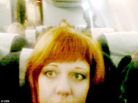 Ghost Alian behind her