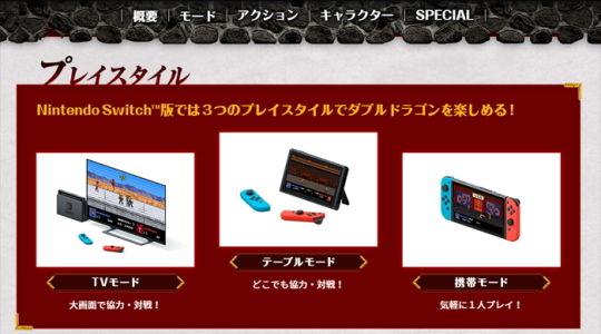 Switch ダブルドラゴン 公式サイト1