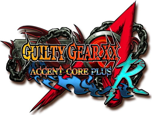 GUILTY GEAR XX ΛCORE PLUS R タイトルロゴ