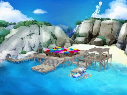 ステージ:海辺のショップ