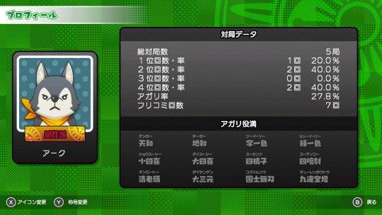 シンプル麻雀オンライン_実績