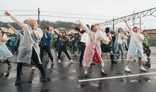雨模様でも盛り上がりをみせる「町踊ってみたひろば」