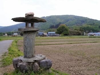 仙元山を臨む