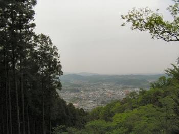 仙元山より小川町を臨む