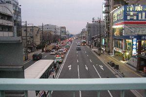 油小路通・東寺道の歩道橋 : 歩...