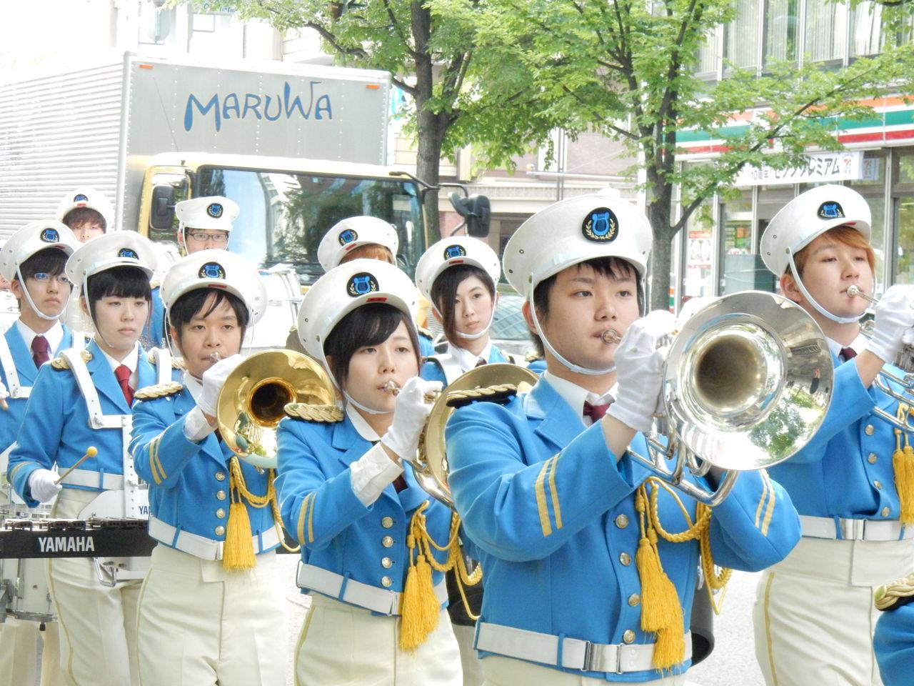 パレード中