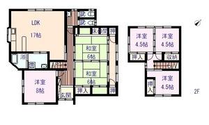西泊股張邸売家1階.2階
