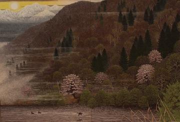 北国四季図(早春の溜池)